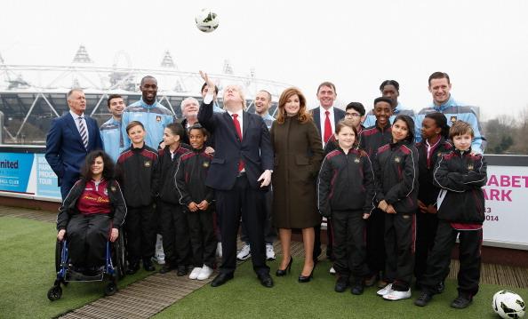 Boris Johnson at announcement of Olympic Stadium March 22 2013