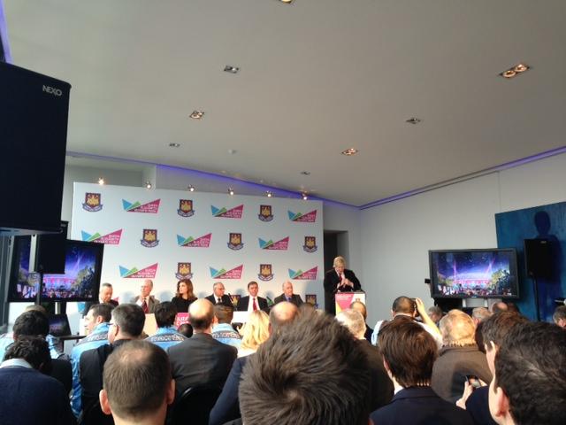 Boris Johnson makes West Ham announcement March 22 2013