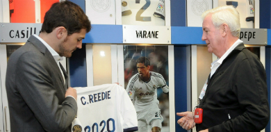 Craig Reedie presented with Real Madrid shirt March 18 2013