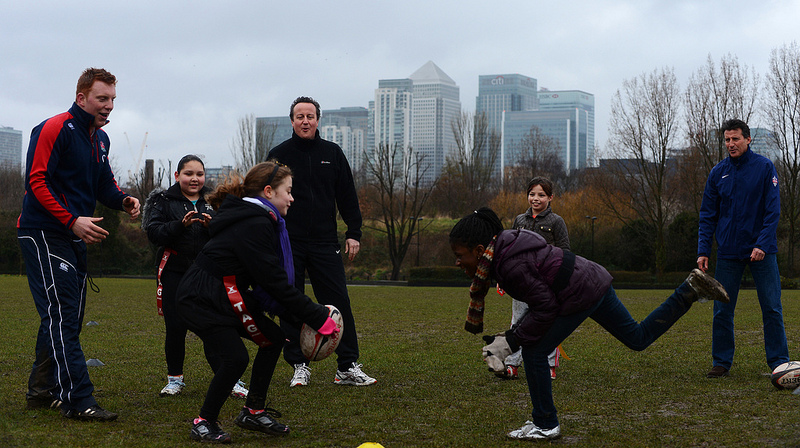 David Cameron launches school sport funding