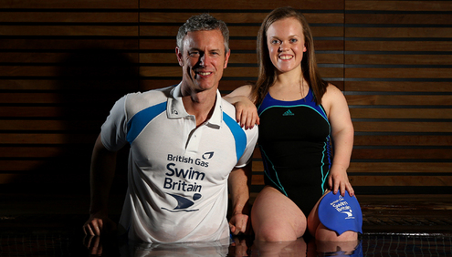 Ellie Simmonds and Mark Foster