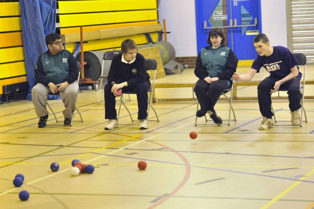 It is now not uncommon to see the students playing sports such as boccia