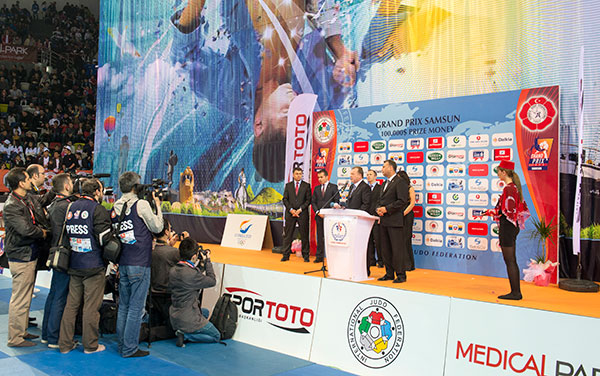 Judo arena opened in Samsun March 30 2013