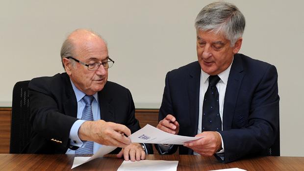 Sepp Blatter with David Bernstein