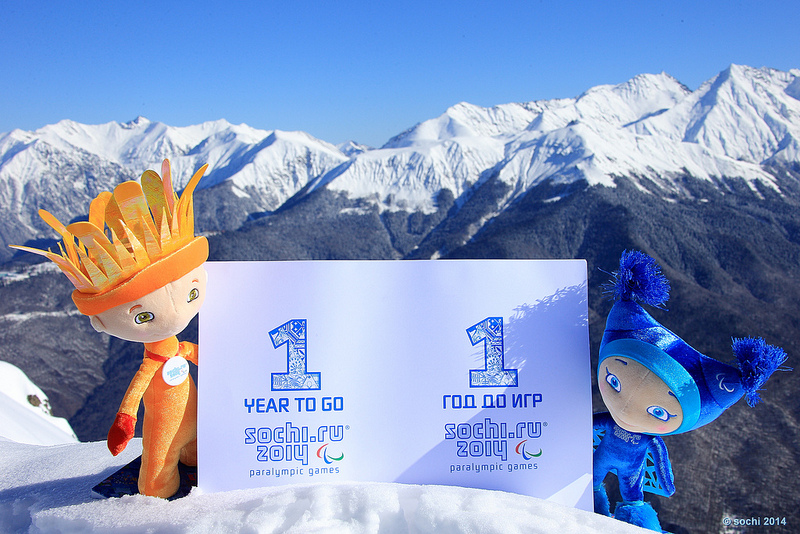 Sochi 2014 Paralympic mascots one year to go