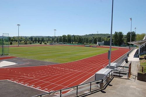 Swansea University athletics track