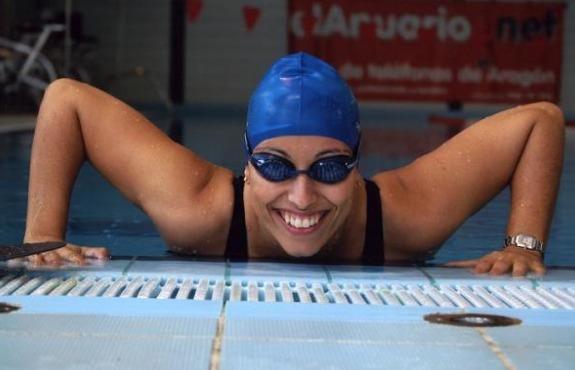 Teresa Perales at Zaragoza pool
