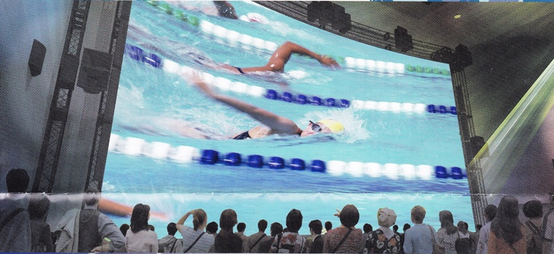 Ultra high definition television swimming