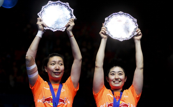 Wang Xiaoli Yu Yang with All England title March 10 2013