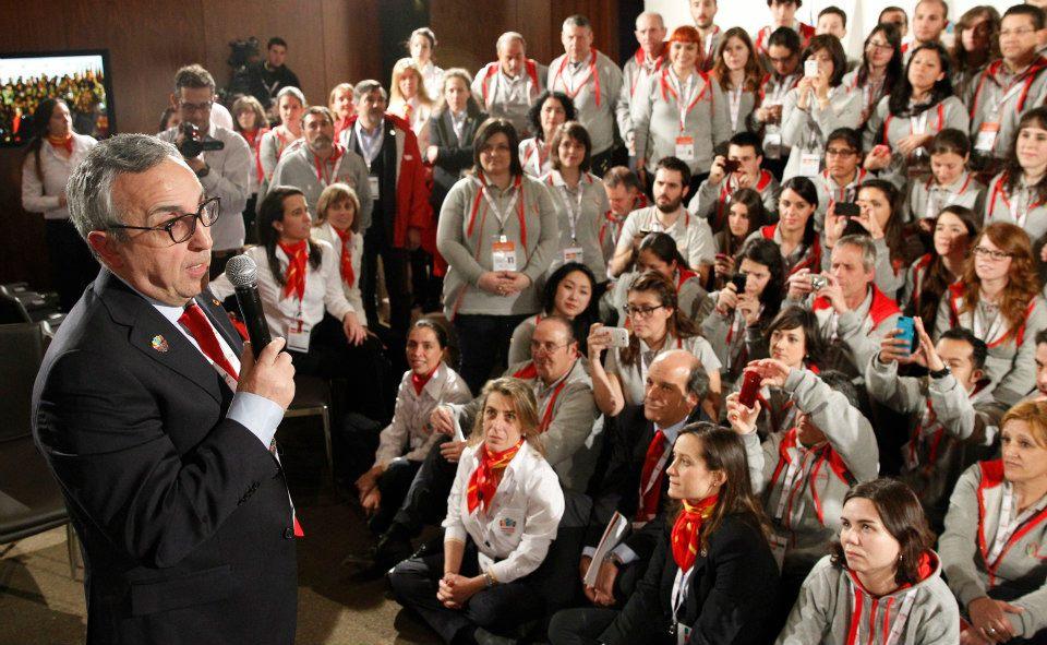 Alejandro Blanco addressing Madrid 2020 volunteers