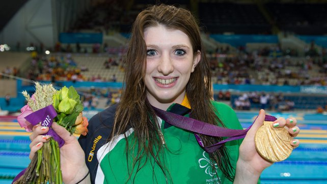Bethany Firth with London 2012 medal