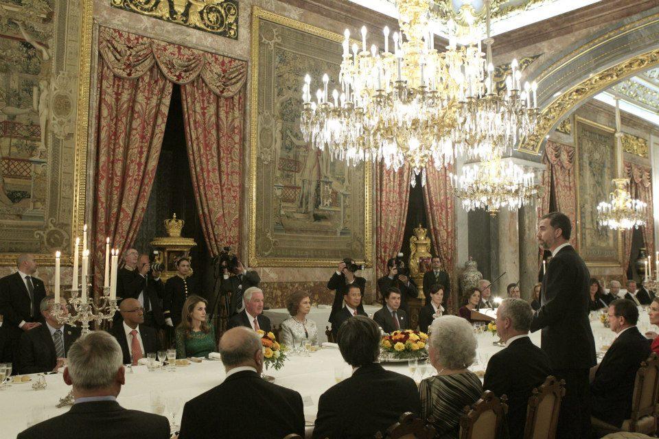 Prince Felipe addressing IOC Evaluation Commission Madrid March 20 2013
