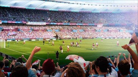 West Ham Olympic stadium model