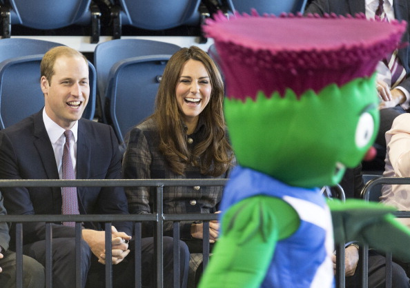 Duke and Duchess of Cambridge watch Clyde at Emirates Arena April 4 2013