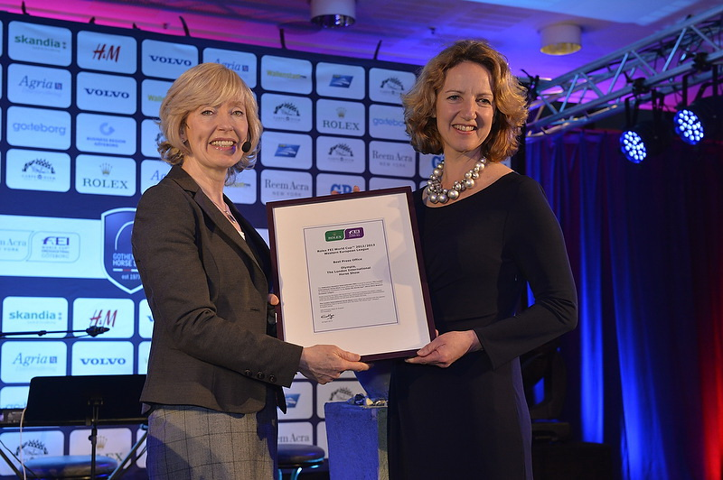 Grania Willis  Jo Peck Best Press Office Award Olympia 2013