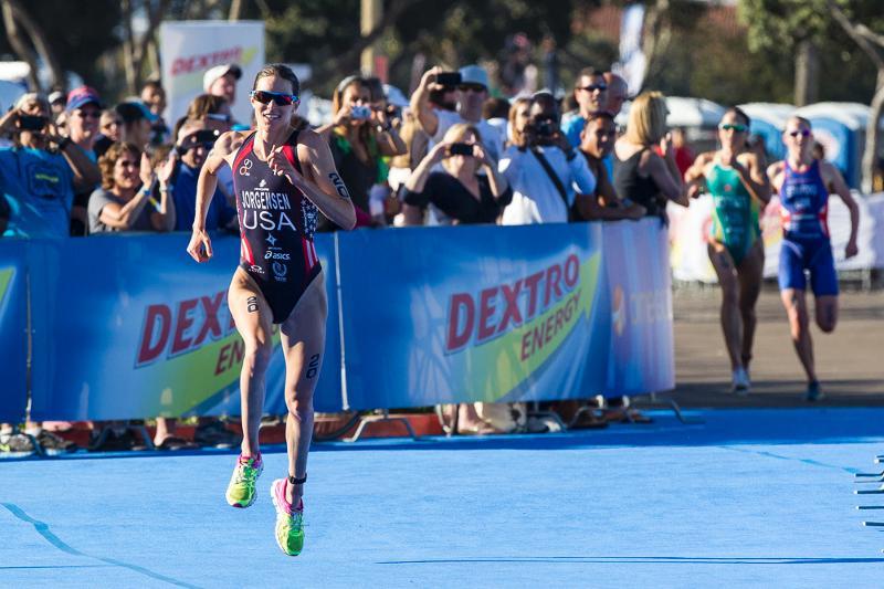 Gwen Jorgensen wins ITU World Series San Diego April 20 2013