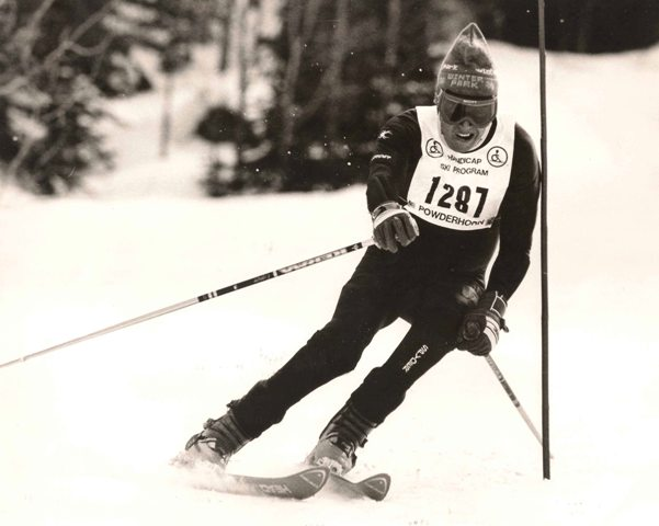 Jack Benedick skiing