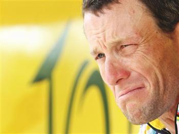Lance Armstrong profile shot