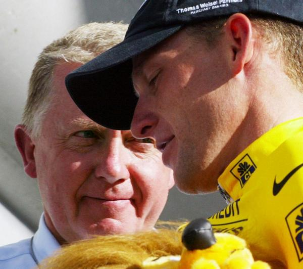 Lance Armstrong with Hein Verbruggen
