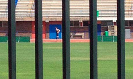 Oscar Pistorius on the track