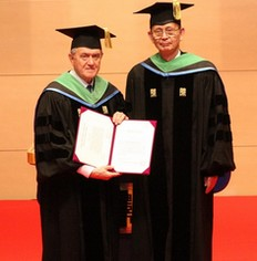 Prof Bruno Grandi and Ph D Ryosho Tanigama