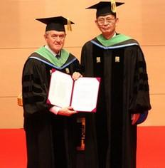 Prof Bruno Grandi and Ph D Ryosho Tanigama