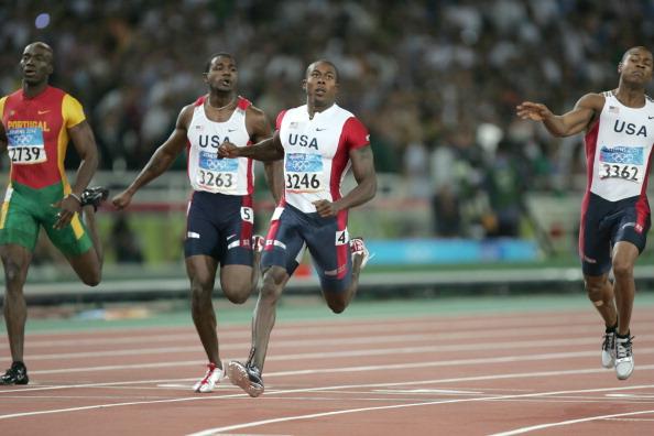 Shawn Crawford wins Athens 2004 200m