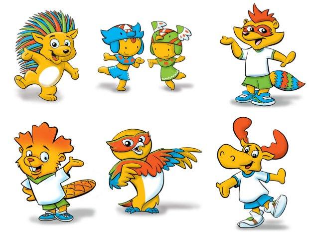 Toronto 2015 mascots 2