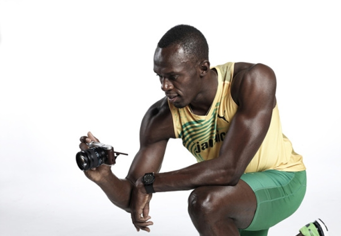 Usain Bolt with Samsung camera