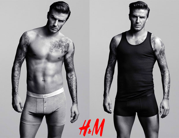 David Beckham in HM underpants