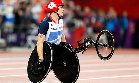 David Weir at London 2012 before start of race