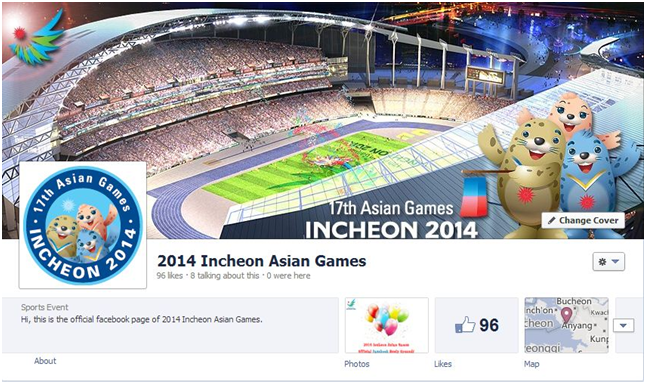 Incheon 2014 facebook page