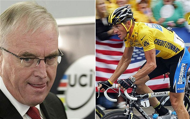 Lance Armstrong with Pat McQuaid