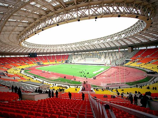 Luzhniki Stadium empty