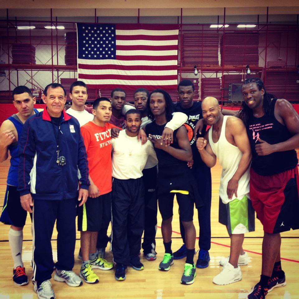 US Boxing training camp group shot