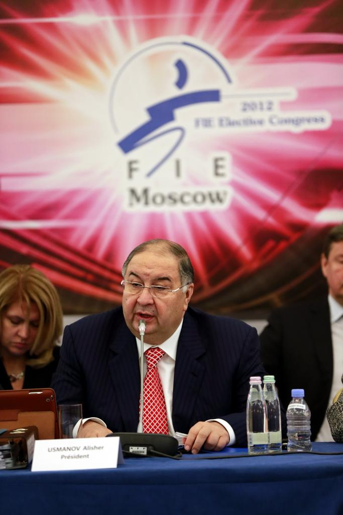 Alisher Usmanov FIE Congress Moscow 2012