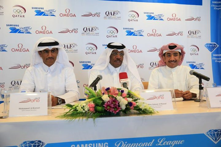 Dahlan al Hamad in centre Diamond League May 2013