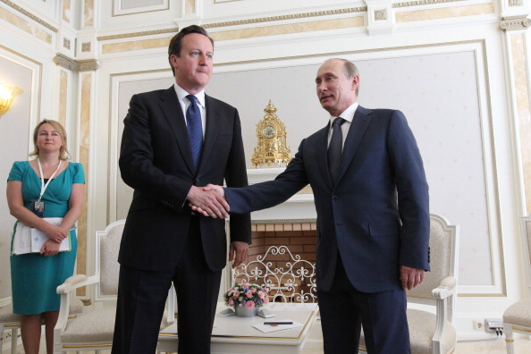 David Cameron Vladimir Putin 100513