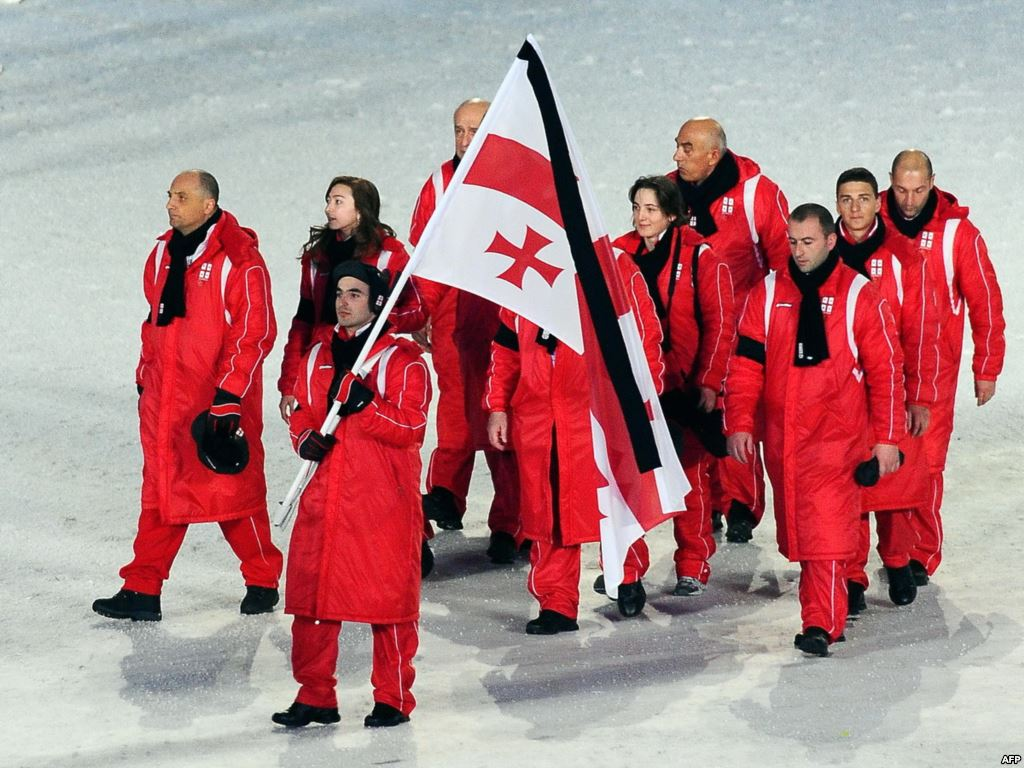 Georgia at Opening Ceremony of Vancouver 2010