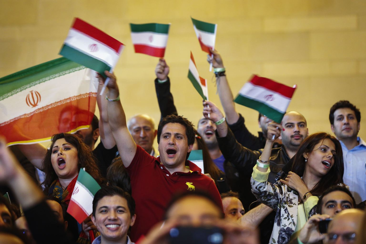 Iranian fans at Rumble on the Rails May 2013