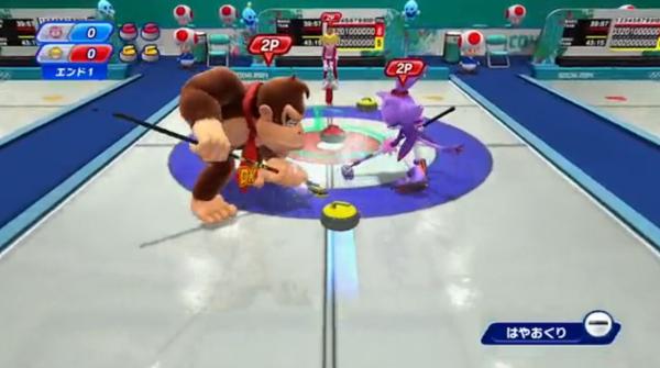 Mario  Sonic curling Sochi 2014