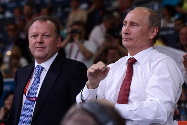 Marius Vizer pictured left with Russian President Vladimir Putin put himself forward to be the next head of SportAccord earlier this year