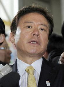 Naoki Inose with Tokyo 2020 pin badge April 30 2013