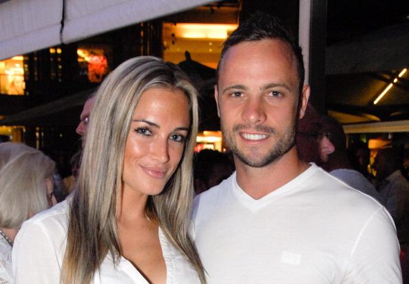 Oscar Pistorius and girlfriend 200513
