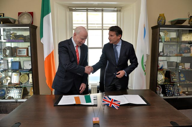 Patrick Hickey and Sebastian Coe Dublin May 7 2013