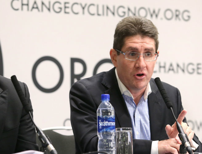 Paul Kimmage at Change Cycling Now press conference