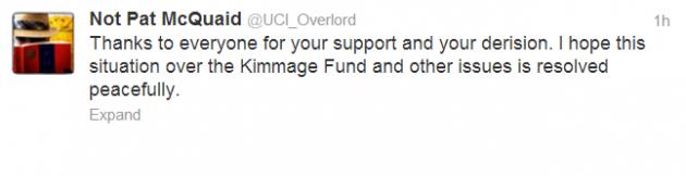 Paul Kimmage defence fund tweet 2