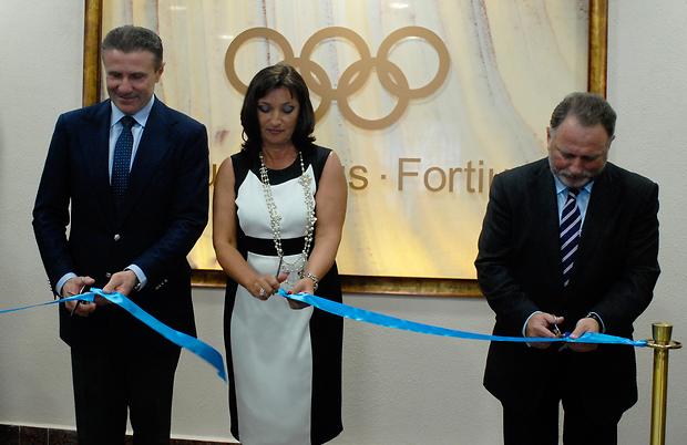Sergey Bubka cuts ribbon Kiev May 24 2013