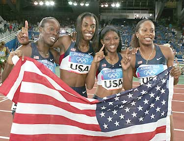 USA 4x400m relay Athens 2004