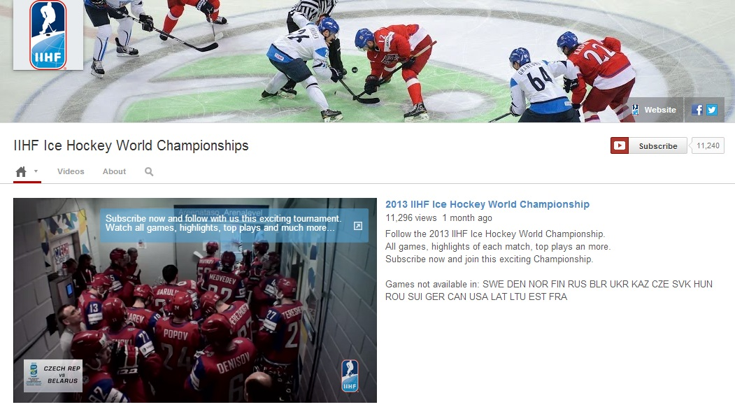 iihf worlds youtube